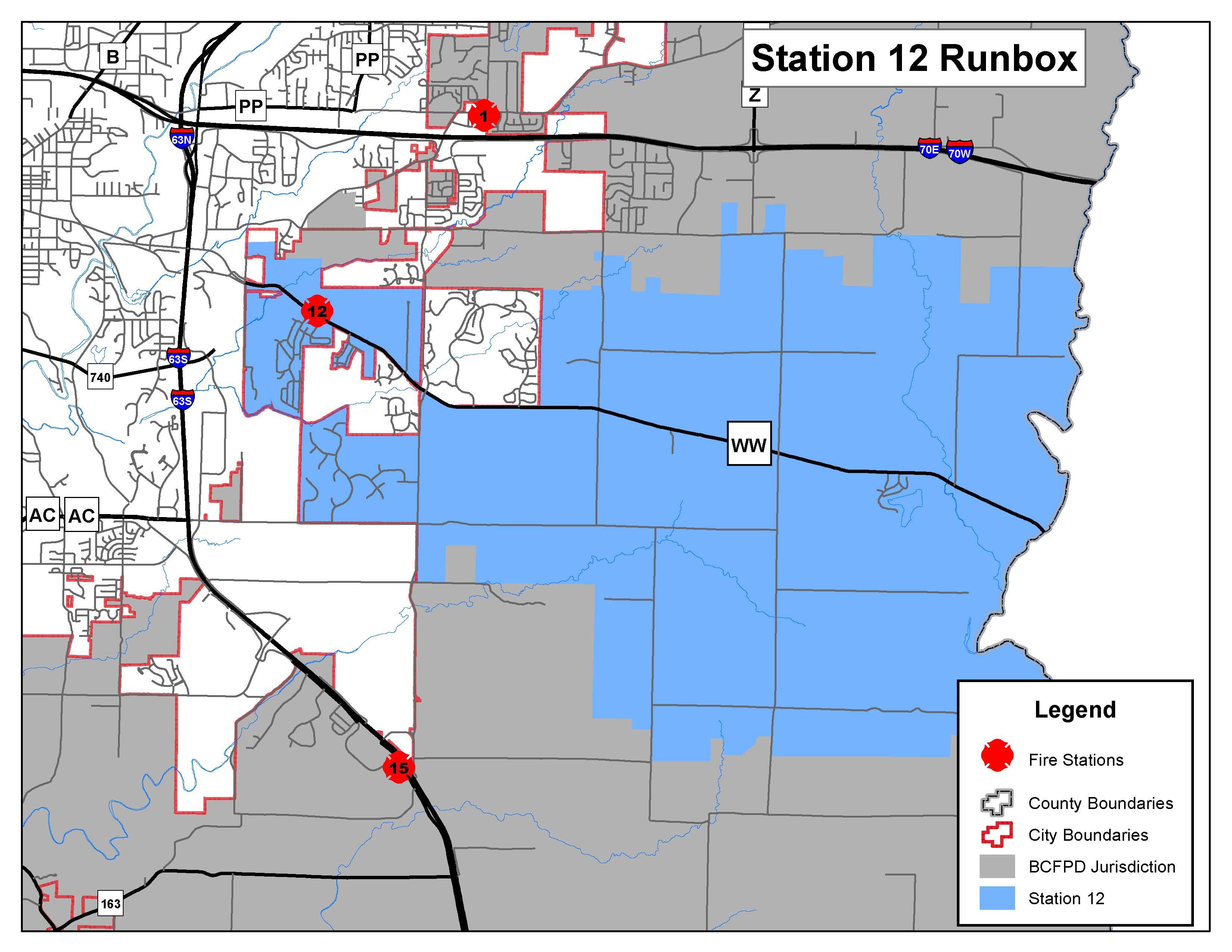 """Station 12 """"El Chapparal"""" Run Map"""