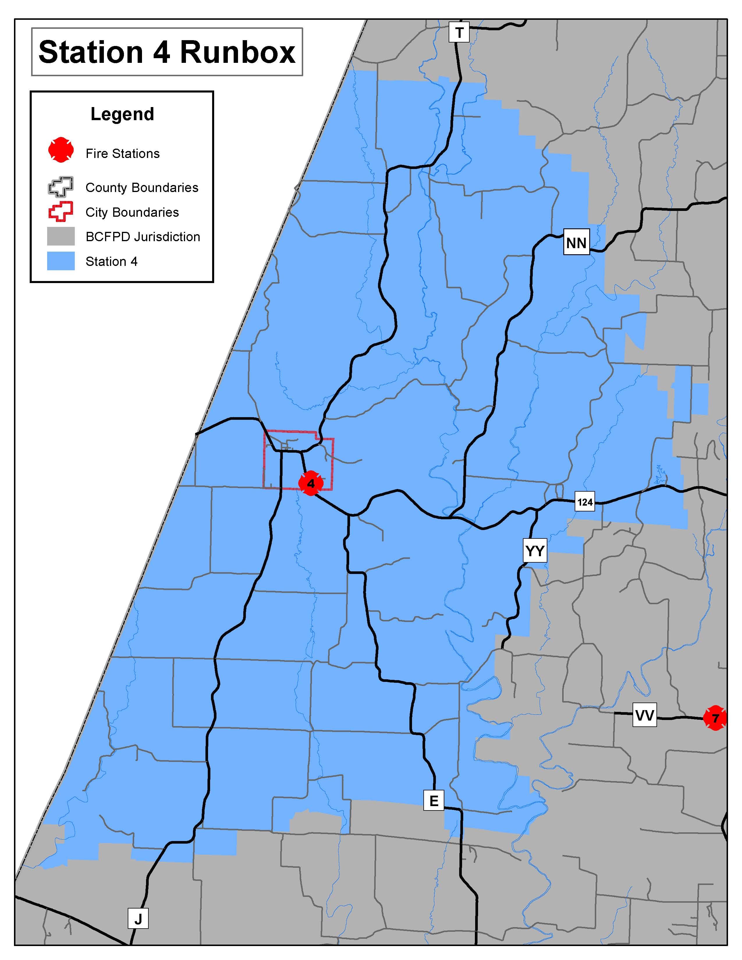 """Station 4 """"Harrisburg"""" Run Map"""