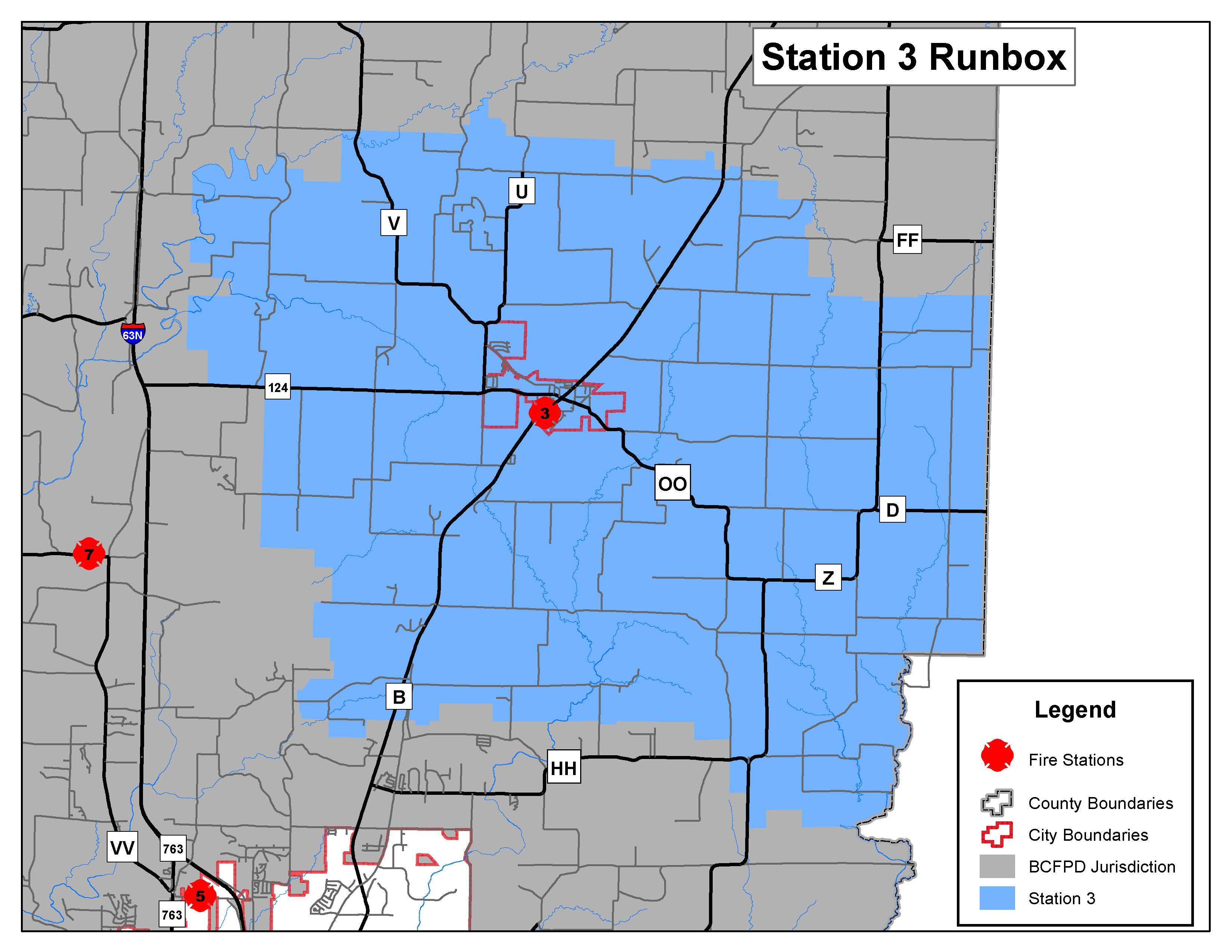 "Station 3 ""Hallsville"" Run Map"