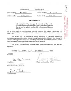 Agreements boone county fire protection district 2009 cooperative agreement between the city of columbia and bcfpd platinumwayz