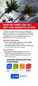 When the Power Goes Out – Carbon Monoxide Poison
